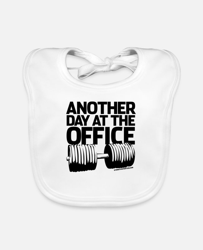Office Baby Bibs - Another day at the office - Baby Bib white