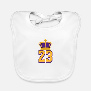 Basketball Number 23 Lebron James - Baby Bib
