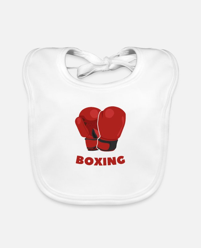 Martial Arts Baby Bibs - Boxing Gloves - Baby Bib white