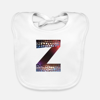 Grade Letters design colorful Z, symbol of diversity - Baby Bib
