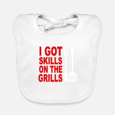Grill Apron Got skills on the grills apron - Baby Bib