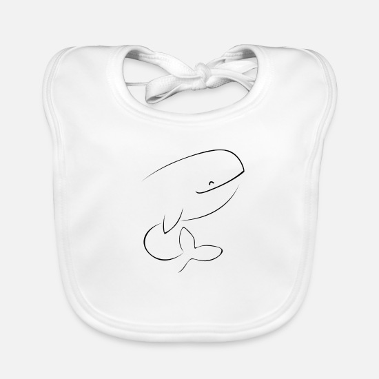 Digital Baby Clothes - Paus 2 - Baby Bib white