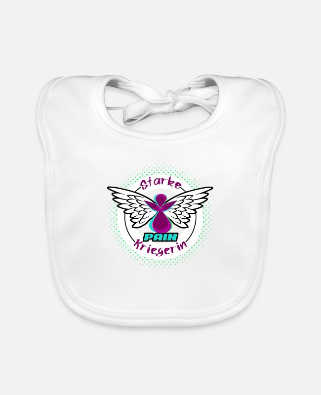 Heart Baby Bibs - Lipedema Kriegeri Lymphedema angel woman bow - Baby Bib white