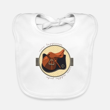 Saddle horsetshirt saddle happy luxury saddle saddle pad - Baby Bib