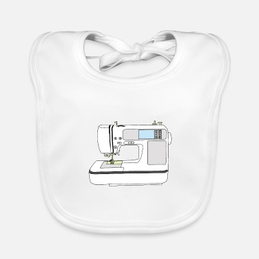 Sketchnote sewing machine - Baby Bib