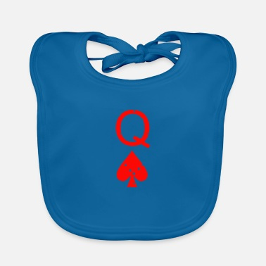 Poker QUEEN OF SPADES POKER PLAYING CARD GAME - Baby Bib