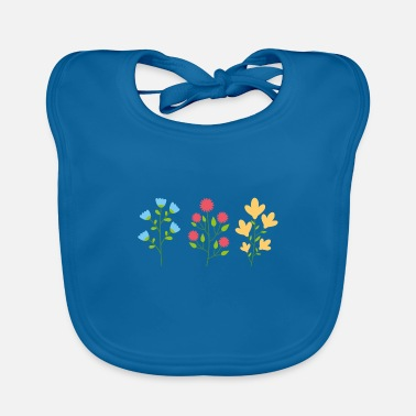Earth Environmental protection gift environment flowers - Baby Bib