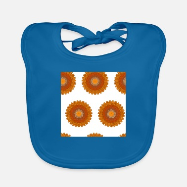 Native Pattern Neck Gaiter Orange Brown Geometric - Baby Bib