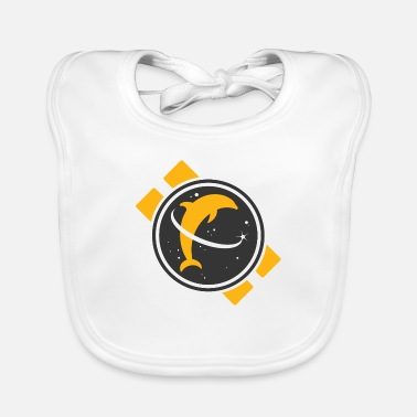 Space Dolphin - Baby Bib