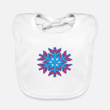 Pure Multi color flower - Baby Bib