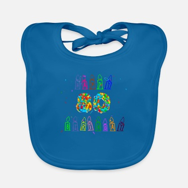 Confetti 80th birthday gift idea, birthday present - Baby Bib