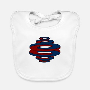 Curves Optical illusion (curved curves / circles) - Baby Bib