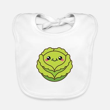 Cute cabbage or lettuce head - Baby Bib