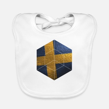 Swedish Girlfriend Sweden | Swedish flag gifts - Baby Bib
