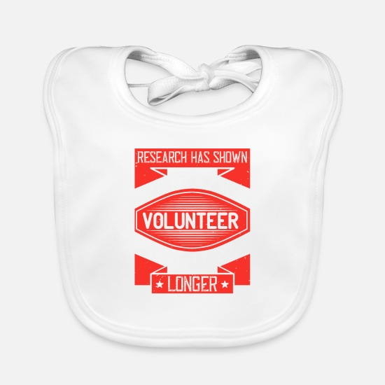 Tennessee Baby Clothes - Research has shown that people who volunteer often - Baby Bib white