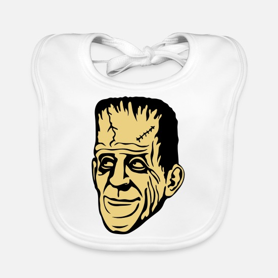 Frankenstein Baby Clothes - Frankenstein - Baby Bib white