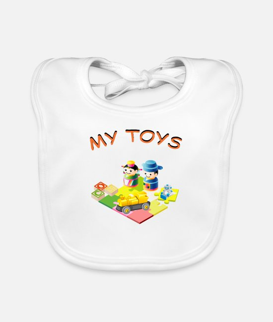 Nature Baby Bibs - Baby toy toddler gift - Baby Bib white