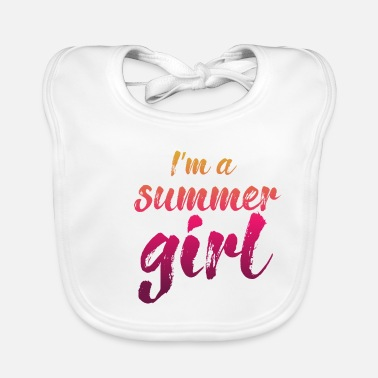 Surfer summer girl - Baby Bib