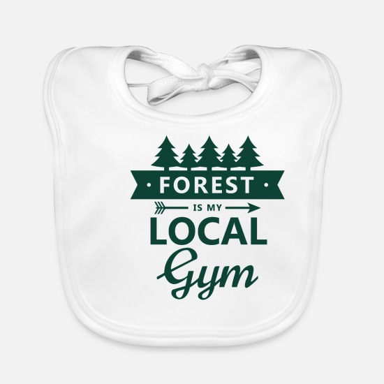 Design Baby Clothes - The forest is my local gym - Baby Bib white