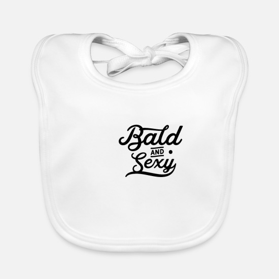 Husband Baby Clothes - Bald carrier - Baby Bib white