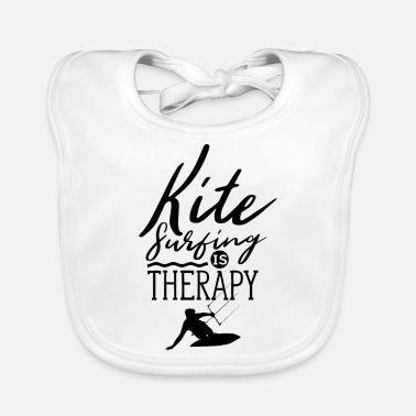 I Love Kitesurfing is my therapy kitesurfer kitesurf - Baby Bib