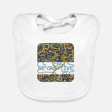Be Creative - cool artist picture - Baby Bib