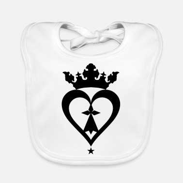 Mark Something Breton breizh hearts mark 610 - Baby Bib