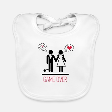 Stag Do Game over - Stag do - Hen party - Wedding - Baby Bib