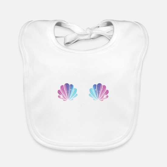 Shell Baby Clothes - SHELL - Baby Bib white