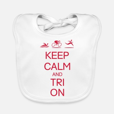 Tries Tri On - Baby Bib