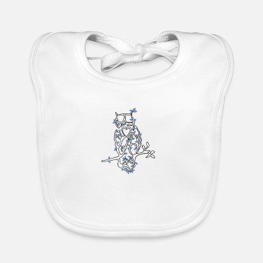 Tree animals owl - Baby Bib