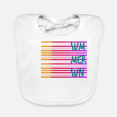 Summer Summer / summer / line / colorful / trend / sayings - Baby Bib