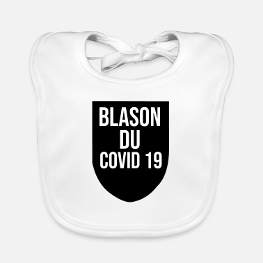 Container coat of arms of covid 19 - Baby Bib