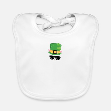 Baseball Kids St Patricks Day Irish Llama Wearing Tophat - Baby Bib