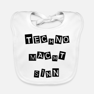 Announcement Techno makes sense - Baby Bib