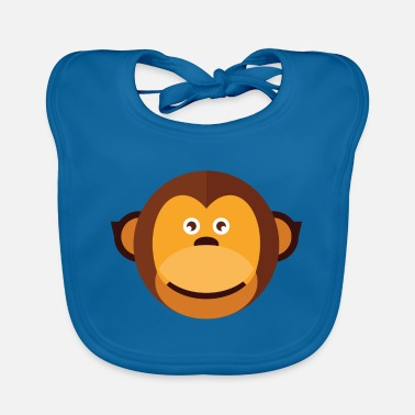Marmoset Marmoset monkey brown - Baby Bib