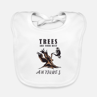 Tree trees antique - Baby Bib