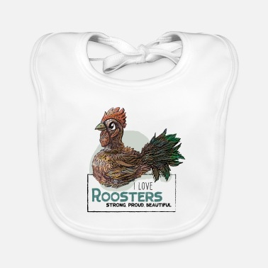 I Love Roosters - Lätzchen