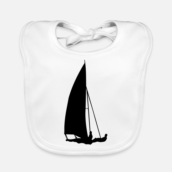Martial Arts Baby Clothes - sailboat transport - Baby Bib white