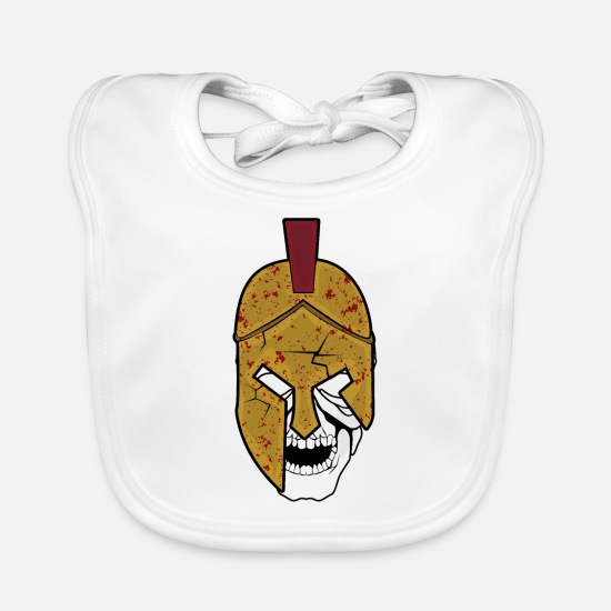 Sparta Baby Clothes - Gladiator with helmet - Baby Bib white