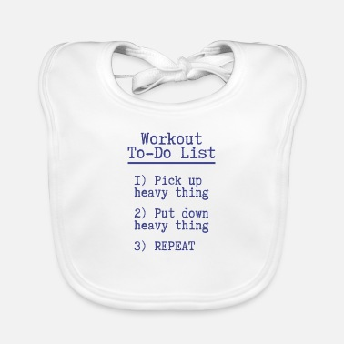 Workout Workout to do lijst Fitness Gift Gym Sport - Slabbetje