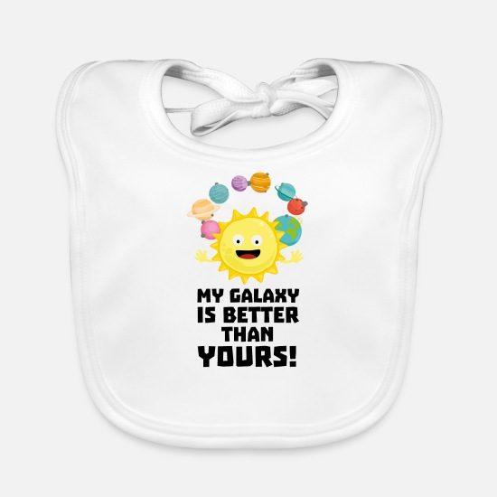 Funny Baby Clothes - Galaxy Funny Saying S5g2e - Baby Bib white
