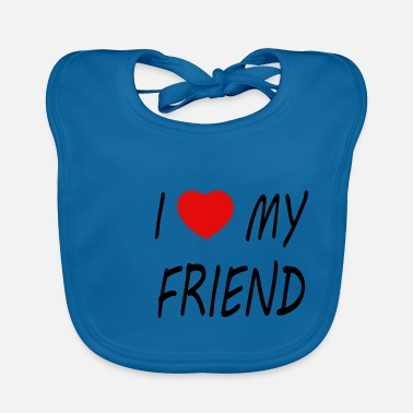 Friend i love my friend - black - Baby Bib