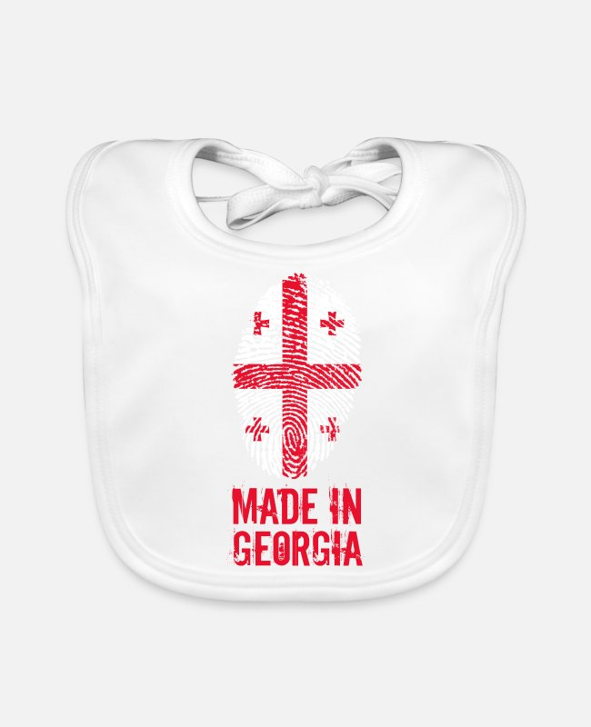 Proud Baby Bibs - Made in Georgia / Made in Georgia საქართველო - Baby Bib white