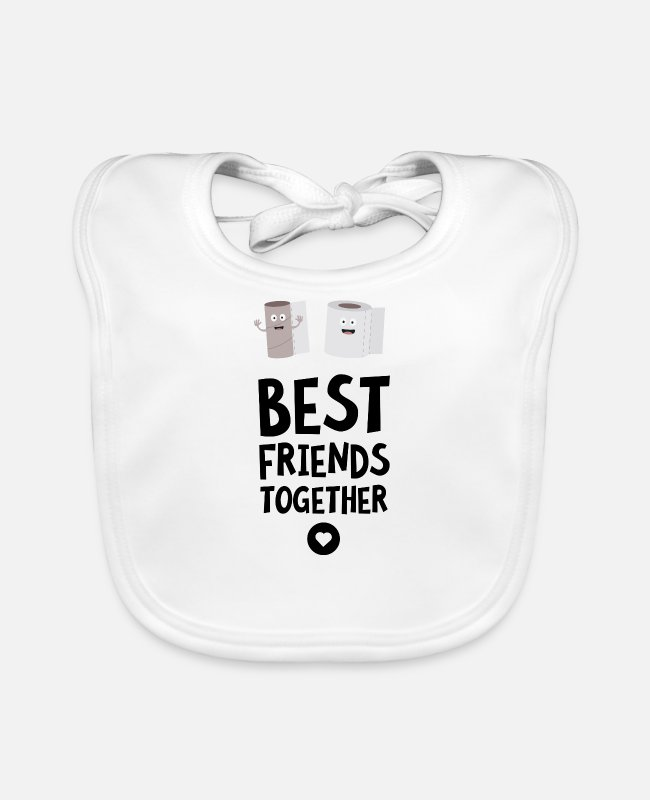 Nature Baby Bibs - Toiletpaper Best friends Heart Sjfej - Baby Bib white