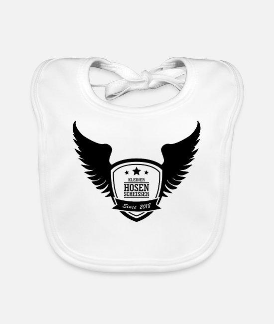 New Baby Bibs - Little panties Wings - Baby Bib white