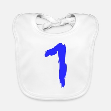 Lucky Number Number favorite number lucky number 1 one - Baby Bib