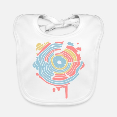 Annual The annual rings of a tree as a graffiti - Baby Bib