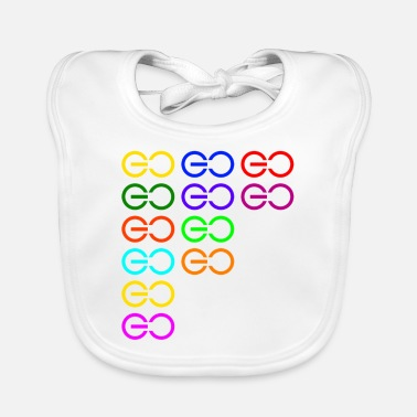 Multi-colored gogogo multi color - Baby Bib