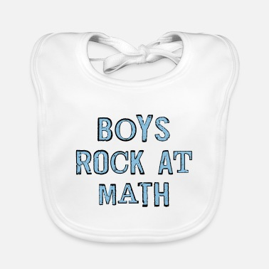 Boys Rock At Math - Baby Bib